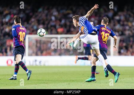 SPAIN - 20th of May: Real Sociedad forward Juanmi (7) during the match between FC Barcelona against Real Sociedad for the round 38 of the Liga Santander, played at Camp Nou Stadium on 20th May 2018 in Barcelona, Spain. (Credit: Mikel Trigueros /Urbanandsport / Cordon Press)  Cordon Press - Stock Photo