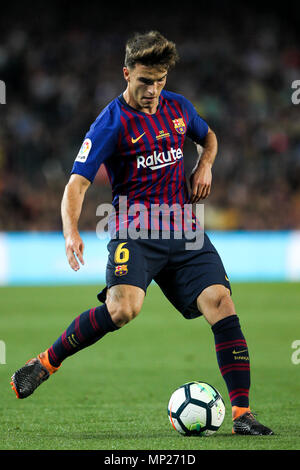 Camp Nou, Barcelona, Spain. 20th May, 2018. La Liga football, Barcelona versus Real Sociedad; Denis Suarez of FC Barcelona Credit: Action Plus Sports/Alamy Live News - Stock Photo