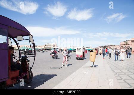 Jamaa el fna Square, Marrakech, Morocco. - Stock Photo