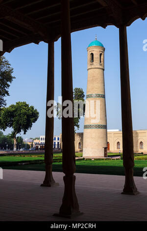 The Jami Mosque minaret in Kokand - Uzbekistan - Stock Photo