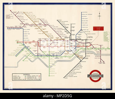 vintage 1930s london underground tube map lithograph in colour 1935 printed by waterlow sons