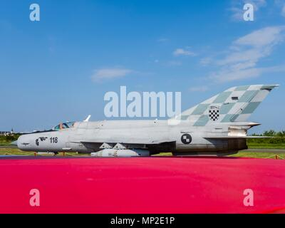 Croatian Air Force MiG-21 BIS-D jet interceptor airplane - Stock Photo