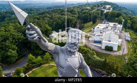 The Vulcan Statue, Vulcan Park, Birmingham, Alabama, USA - Stock Photo