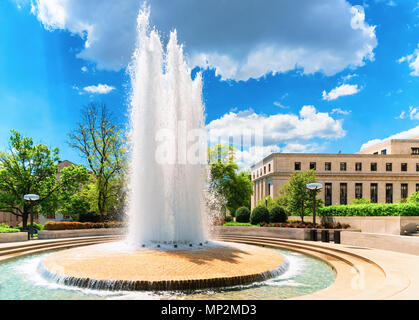 Fountain in Robert Latham Owen park in Washington D.C., USA. Robert Latham Owen was one of the first United States senators from the state Oklahoma. H - Stock Photo