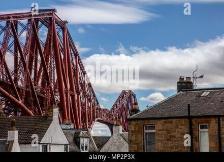 Forth Rail Bridge, North Queensferry, Scotland - Stock Photo