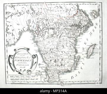 Schweden Karte Deutsch.Karte Von Schweden Stock Photo 169908271 Alamy
