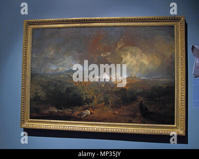The Fifth Plague of Egypt . This painting was done for the Royal Academy exhibition in London. It depicts hail, which was the seventh plague as described in the Book of Exodus, rather than the death of livestock, which was the actual fifth plague. 1800.    J. M. W. Turner (1775–1851)   Alternative names J. M. W. Turner  Description British painter and printmaker  Date of birth/death circa 23 April 1775 19 December 1851  Location of birth/death London Category:Chelsea  Work location London, Britain, Italy, Germany, Switzerland  Authority control  : Q159758 VIAF:100900492 ISNI:0000 0001 21 - Stock Photo