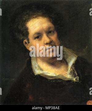 . Self-portrait at 69 Years . 1815.    Francisco Goya (1746–1828)   Alternative names Francisco Goya Lucientes, Francisco de Goya y Lucientes, Francisco José Goya Lucientes  Description Spanish painter, printmaker, lithographer, engraver and etcher  Date of birth/death 30 March 1746 16 April 1828  Location of birth/death Fuendetodos Bordeaux  Work location Madrid, Zaragoza, Bordeaux  Authority control  : Q5432 VIAF:54343141 ISNI:0000 0001 2280 1608 ULAN:500118936 LCCN:n79003363 NLA:36545788 WorldCat 1110 Self-portrait at 69 Years by Francisco de Goya - Stock Photo
