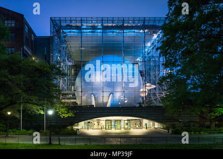 The Hayden Planetarium near Central Park in New York City, USA. - Stock Photo