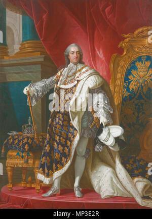 .  Italiano: Luigi XV re di Francia . 18th century.   824 Louis XV Reggia di Caserta - Stock Photo