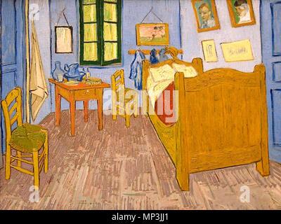 English: Vincent\'s Bedroom in Arles October, 1888. 1223 Vincent van ...