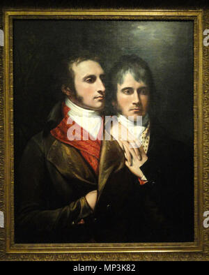 Raphael West and Benjamin West Jr., Sons of the Artist . Exhibit in the Nelson-Atkins Museum of Art, Kansas City, Missouri. 1796.    Benjamin West (1738–1820)   Description American-British painter  Date of birth/death 10 October 1738 11 March 1820  Location of birth/death Springfield Township, Pennsylvania London  Work location London, Roma, Philadelphia  Authority control  : Q313498 VIAF:76585232 ISNI:0000 0000 7358 1062 ULAN:500026989 LCCN:n50003451 NLA:356007630 WorldCat 1042 Raphael West and Benjamin West Jr., Sons of the Artist, by Benjamin West, c. 1796 - Nelson-Atkins Museum of - Stock Photo