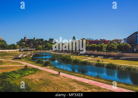 Park. A sunny day in the park ¨Fluvial¨ in Fuengirola. Malaga province, Andalusia, Spain. Picture taken – 15 may 2018. - Stock Photo