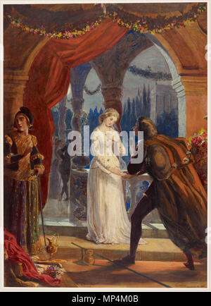 .  English: Romeo meets Juliet for the first time . 26 August 1861.    Victoria, Princess Royal (1840–1901)   Alternative names H.I.M. The Empress Frederick of Germany  Description English painter, sculptor and draughtswoman  Date of birth/death 21 November 1840 5 August 1901  Location of birth/death London Schlosshotel Kronberg  Authority control  : Q116728 VIAF:89807131 ISNI:0000 0001 1075 9617 ULAN:500009430 LCCN:n81043124 NLA:36298177 WorldCat 1233 Victoria, Princess Royal - Romeo meets Juliet - Stock Photo