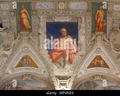 Figura    .   955 Palazzo della Meridiana Salone Cambiaso Figura 3b - Stock Photo
