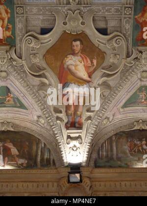 Figura    .   955 Palazzo della Meridiana Salone Cambiaso Figura 2 - Stock Photo