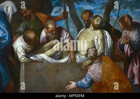 1246 Véronèse mise au tombeau detail - Stock Photo