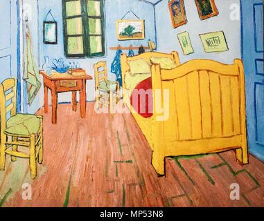 English: Vincent\'s Bedroom in Arles Français : La chambre de Van ...