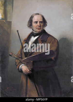 Jan Willem Pieneman (1779-1853), painter and father of Nicolaas Pieneman  *oil on canvas  *136 × 101 cm  *signed b.l.: N.P. 1860 Jan Willem Pieneman (1779-1853). by Nicolaas Pieneman 706 Jan Willem Pieneman02 - Stock Photo