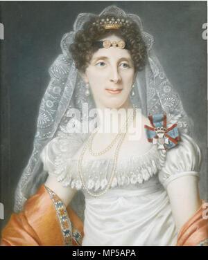 .  English: Portrait of Duchess Maria Elisabeth in Bavaria . exhibited in the Salon of Paris, 1817.   1018 Portrait of Duchess Maria Elisabeth in Bavaria - Stock Photo