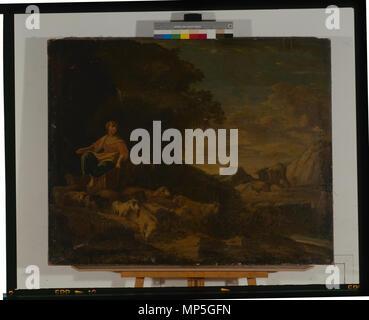968 Paysage et animaux - anonyme - musée d'art et d'histoire de Saint-Brieuc, DOC D 183