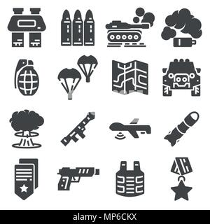 Military and war icons. Army icons universal set for web and mobile - Stock Photo