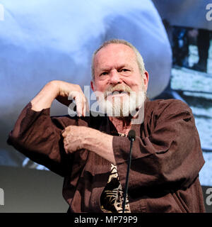 London, UK. 21st May, 2018. Terry Gilliam appears on Mark Kermode Live in 3D on Monday 21 May 2018 held at BFI Southbank, London. Pictured: Terry Gilliam. Credit: Julie Edwards/Alamy Live News - Stock Photo