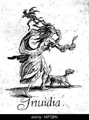 . The Seven Deadly Sins (ca. 1620) - Envy . 1620.   Jacques Callot (1592–1635)   Description French printmaker, draughtsman and etcher  Date of birth/death between 25 March 1592 and 21 August 1592 25 March 1635  Location of birth/death Nancy Nancy  Work location Nancy, Firenze, Torino, Roma, Breda, Bruxelles, Paris  Authority control  : Q460124 VIAF:19687783 ISNI:0000 0001 2122 9857 ULAN:500021688 LCCN:n50032190 NLA:35024962 WorldCat 689 Jacques Callot, The Seven Deadly Sins - Envy - Stock Photo