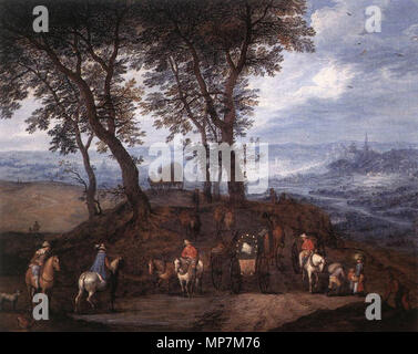 Travellers on the Way  second half of 16th century.   695 Jan Brueghel (I) - Travellers on the Way - WGA03568 - Stock Photo