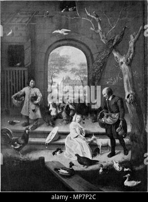 Portrait of Jacoba Maria van Wassenaer, known as 'The poultry yard'  1660.   701 Jan Steen 019 black and white 01 - Stock Photo