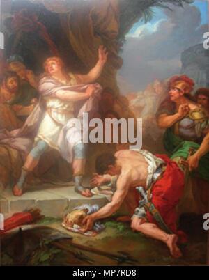1085 Saint-ours - David condamne à mort le messager amalécite - Stock Photo