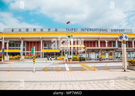 Taipei, Taiwan - April 25, 2018 : Songshan international airport - Stock Photo