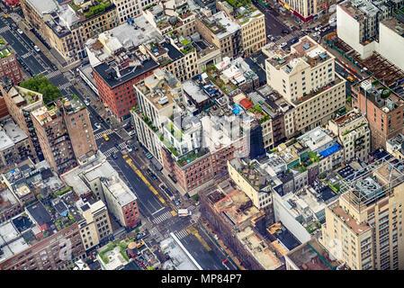 Aerial view of Manhattann New York