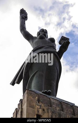 Mother Armenia, monumental statue in Memorial Victory Park. Gyumri, Armenia, - Stock Photo