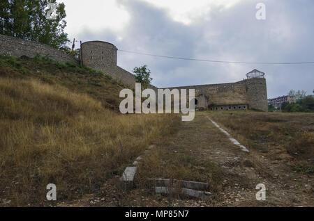 Entrance gate to Shushi fortress. Nagorno-Karabakh republic. - Stock Photo