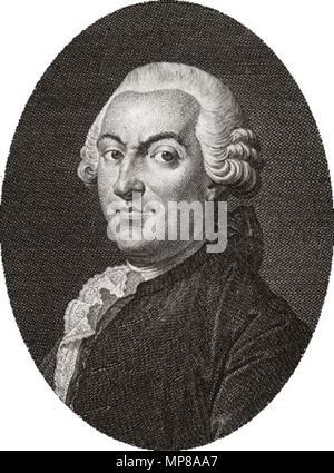 Portrait of Jean-François Marmontel (1723-1799)   .   714 Jean-Francois Marmontel - Stock Photo