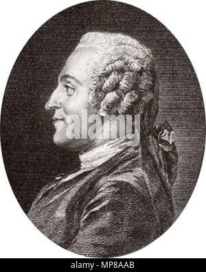 . Portrait of Jean-François Marmontel (1723-1799) . 18th century.   714 Jean-Francois Marmontel 1 - Stock Photo