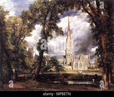 Salisbury Cathedral from the Bishop's Grounds  1823.   731 John Constable - Salisbury Cathedral from the Bishop's Grounds - WGA5201 - Stock Photo