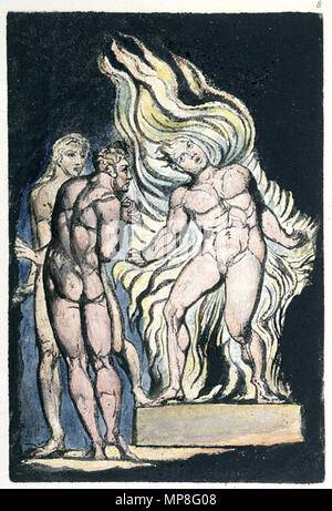 .  English: Milton a Poem copy A c1811 British Museum object 8 . 1811.    William Blake (1757–1827)   Alternative names W. Blake; Uil'iam Bleik  Description British painter, poet, writer, theologian, collector and engraver  Date of birth/death 28 November 1757 12 August 1827  Location of birth/death Broadwick Street Charing Cross  Work location London  Authority control  : Q41513 VIAF:54144439 ISNI:0000 0001 2096 135X ULAN:500012489 LCCN:n78095331 NLA:35019221 WorldCat 895 Milton a Poem copy A c1811 British Museum object 8 - Stock Photo