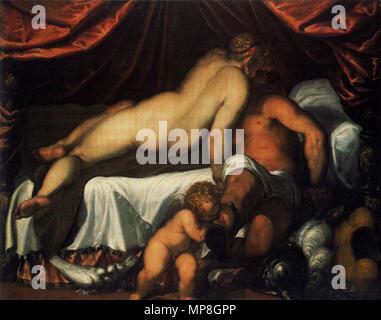 Deutsch: Venus und Mars   about 1590.   955 Palma il Giovane Venus und Mars - Stock Photo