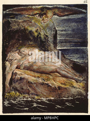 . English: Milton a Poem, copy D, object 42 (Bentley 38, Erdman not numbered, Keynes 38) . 26 March 2007, 09:00:13.   William Blake (1757–1827)   Alternative names W. Blake; Uil'iam Bleik  Description British painter, poet, writer, theologian, collector and engraver  Date of birth/death 28 November 1757 12 August 1827  Location of birth/death Broadwick Street Charing Cross  Work location London  Authority control  : Q41513 VIAF:54144439 ISNI:0000 0001 2096 135X ULAN:500012489 LCCN:n78095331 NLA:35019221 WorldCat     This is a faithful photographic reproduction of a two-dimensional, p - Stock Photo