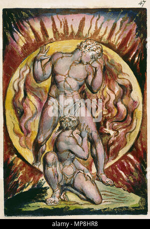 . English: Milton a Poem, copy D, object 47 (Bentley 21, Erdman not numbered, Keynes 21) . 26 March 2007, 09:00:25.   William Blake (1757–1827)   Alternative names W. Blake; Uil'iam Bleik  Description British painter, poet, writer, theologian, collector and engraver  Date of birth/death 28 November 1757 12 August 1827  Location of birth/death Broadwick Street Charing Cross  Work location London  Authority control  : Q41513 VIAF:54144439 ISNI:0000 0001 2096 135X ULAN:500012489 LCCN:n78095331 NLA:35019221 WorldCat     This is a faithful photographic reproduction of a two-dimensional, p - Stock Photo