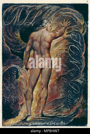 .  English: Milton a Poem copy D 1818 Library of Congress object 1 . circa 1818.    William Blake (1757–1827)   Alternative names W. Blake; Uil'iam Bleik  Description British painter, poet, writer, theologian, collector and engraver  Date of birth/death 28 November 1757 12 August 1827  Location of birth/death Broadwick Street Charing Cross  Work location London  Authority control  : Q41513 VIAF:54144439 ISNI:0000 0001 2096 135X ULAN:500012489 LCCN:n78095331 NLA:35019221 WorldCat 895 Milton a Poem copy D 1818 Library of Congress object 1 - Stock Photo