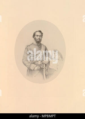 . English: King Kamehameha IV by Richard James Lane, printed by M & N Hanhart, lithograph, 1861. circa 1861.   Richard James Lane (1800–1872)   Alternative names Richard J. Lane  Description English engraver and lithographer  Date of birth/death 16 February 1800 21 November 1872  Location of birth Berkeley Castle  Authority control  : Q7326816 VIAF:59348682 ISNI:0000 0000 6658 4871 ULAN:500120153 LCCN:n81054202 SUDOC:119740117 WorldCat    , printed by M & N Hanhart 756 Kamehameha IV by Richard James Lane, lithograph, 1861 - Stock Photo