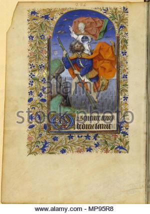 814 Livre d'heures à l'usage d'Angers - BNF NAL3211 p224 (Saint Christophe) - Stock Photo