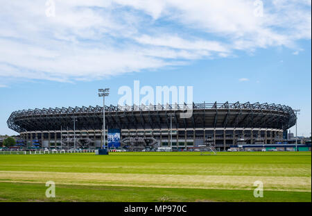 View of Murrayfield Stadium home of Scottish rugby union in Edinburgh, Scotland, United Kingdom, UK - Stock Photo