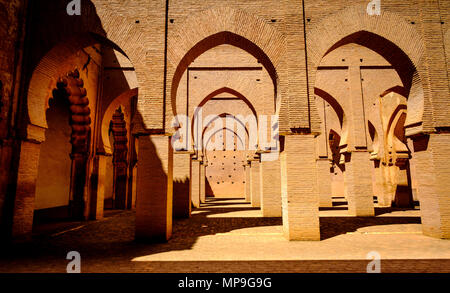 Inside the Tinmel Mosque.  The Tinmel Mosque is a mosque located in the High Atlas mountains. - Stock Photo