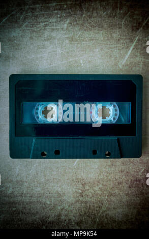 Still life of an audio cassette - Stock Photo