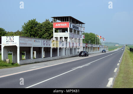 GUEUX, FRANCE - May 15, 2018: Historic Reims-Gueux circuit near Reims. - Stock Photo