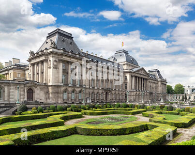 Front of the Royal Palace of Brussels (Palais Royal de Bruxelles), Brussels, Belgium. - Stock Photo